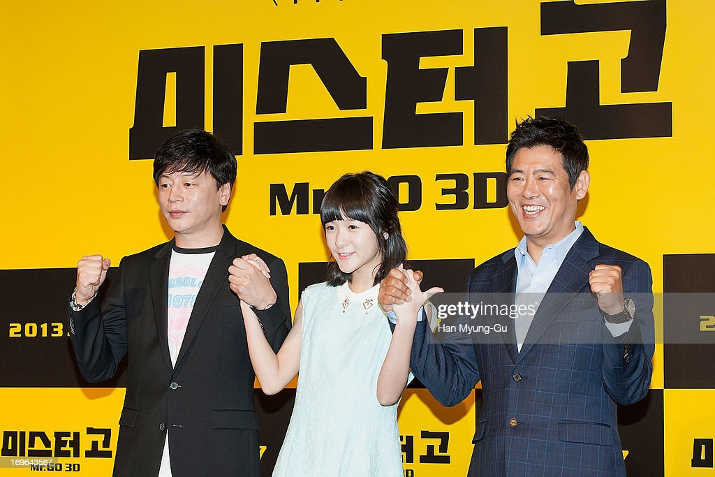 South Korean director Kim Yong-Hwa, Chinese actress Xu Jiao and South Korean actor Sung Dong-Il attend during a promotional event for the 'Mr. Go' Showcase at the Westin Chosun Hotel on May 29, 2013 in Seoul, South Korea. The film will open in July in South Korea.
