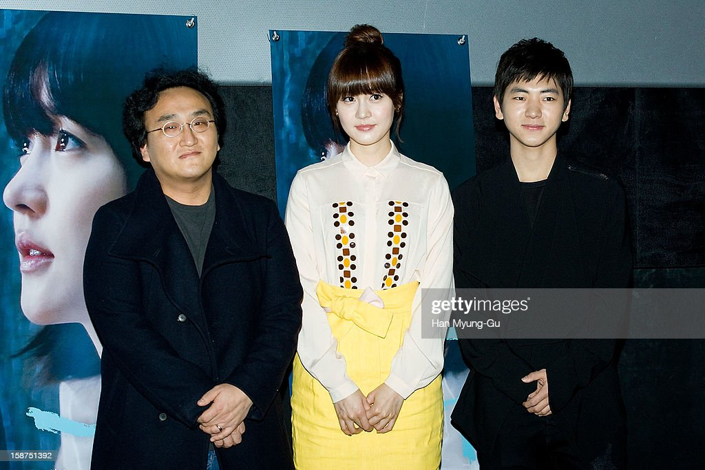 South Korean director Lee Won-Sik, actors Sung You-Ri and Lee Joo-Seung (Lee Ju-Seung) attend the 'A Boy's Sister' press screening at CGV on December 27, 2012 in Seoul, South Korea. The film will open on Janeary 03, 2013 in South Korea.