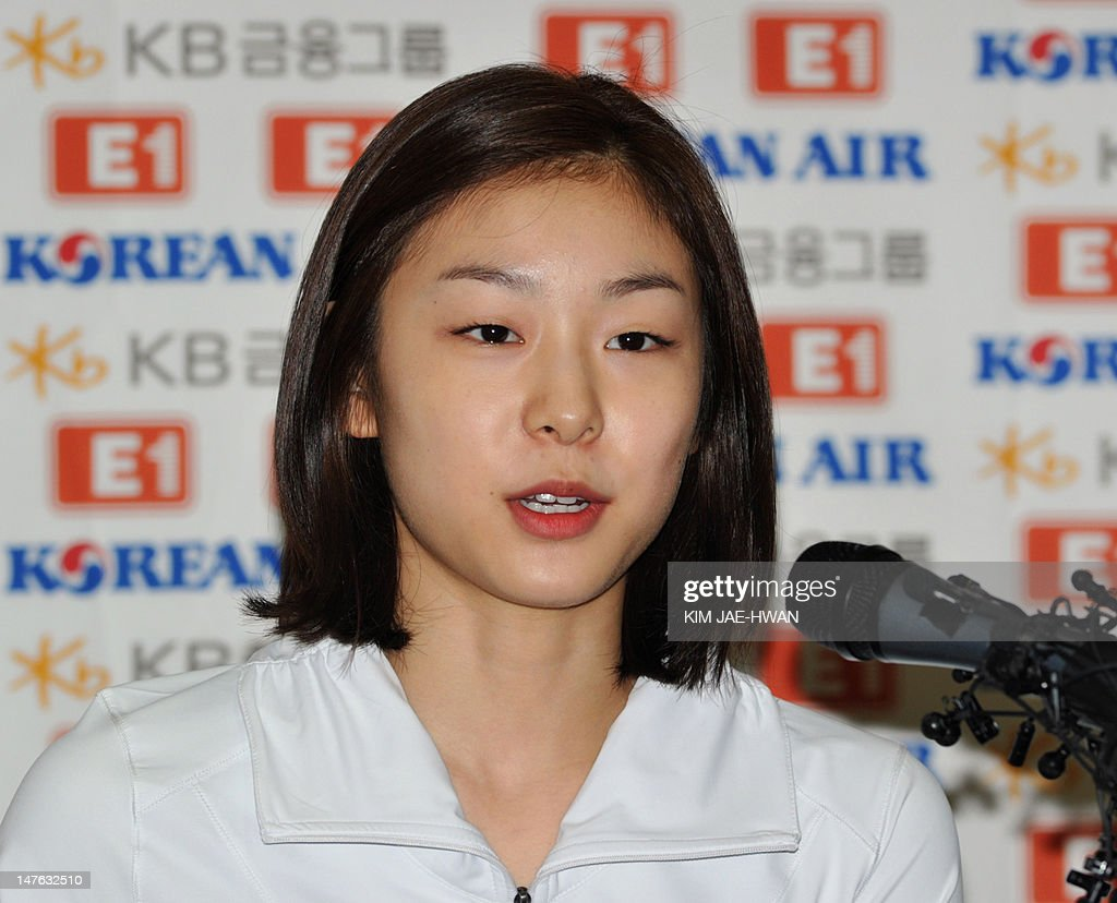 South Korean figure skating star Kim Yu-Na speaks about the future of her career during a news conference at a state training camp in Seoul on July 2, 2012. The reigning Olympic champion said she would compete in the 2014 Winter Olympics in Sochi, Russia, ending months of speculation about her imminent retirement.