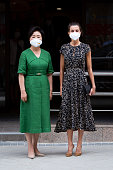 Queen Letizia Of Spain And Kim Jung-Sook Visit ONCE...