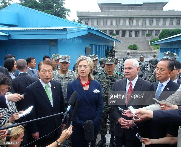 South Korean Foreign Minister Yu Myunghwan US Secretary of State Hillary Clinton US Secretary of Defense Robert Gates and South Korean Defence...