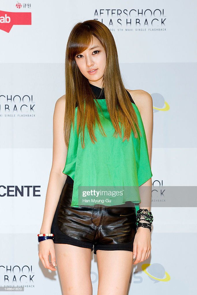South Korean girl group Juyeon of After School poses for media before a press conference to promote their 5th Maxi Single 'Flashback' at Olleh Square on June 20, 2012 in Seoul, South Korea.