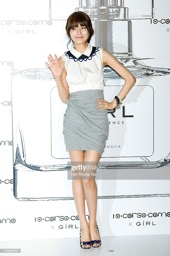 South Korean girl group, Sooyoung of Girls' Generation poses for media at a launching party for collaboration between '10 Corso Como' and perfume 'Girl' on June 7, 2012 in Seoul, South Korea.