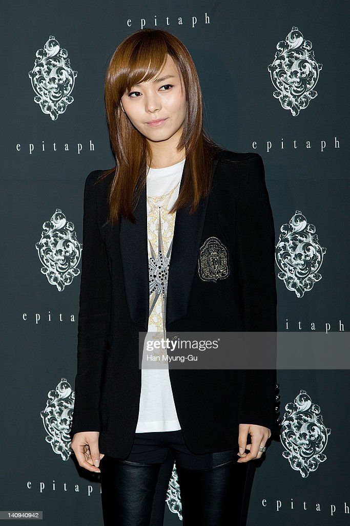 South Korean girl group Sun of Wonder Girls attends the 'Epitaph' Launching Party at Club Octagon on March 08 2012 in Seoul South Korea