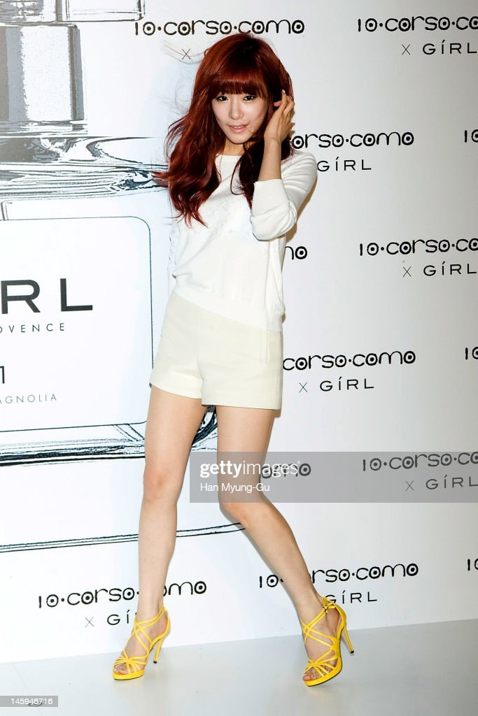 South Korean girl group, Tiffany of Girls' Generation poses for media at a launching party for collaboration between '10 Corso Como' and perfume 'Girl' on June 7, 2012 in Seoul, South Korea.