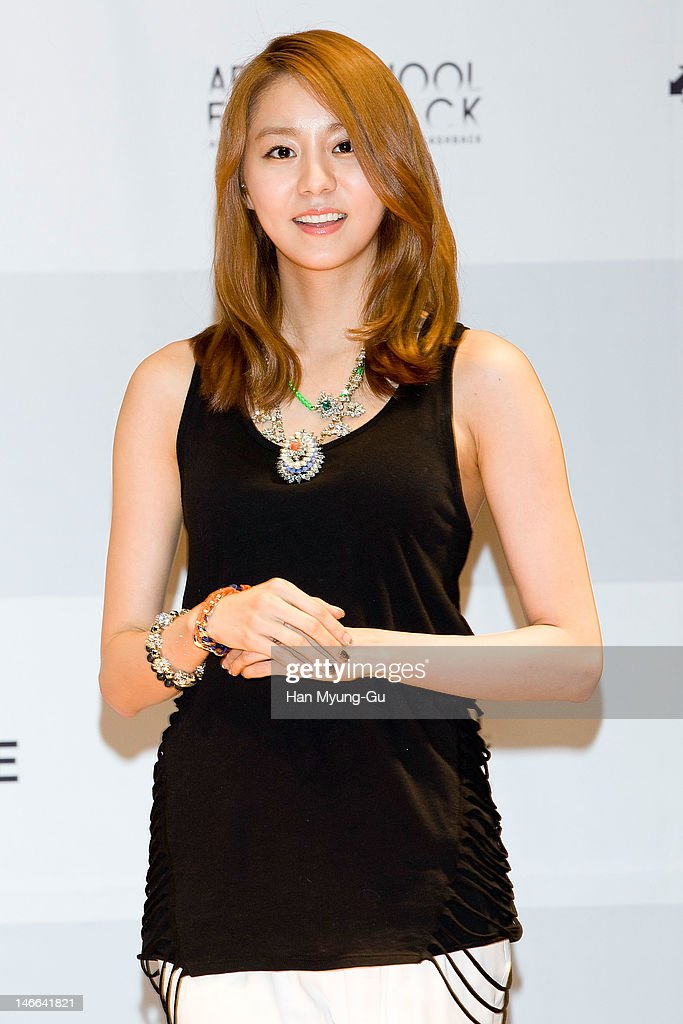 South Korean girl group U-Ie of After School poses for media before a press conference to promote their 5th Maxi Single 'Flashback' at Olleh Square on June 20, 2012 in Seoul, South Korea.