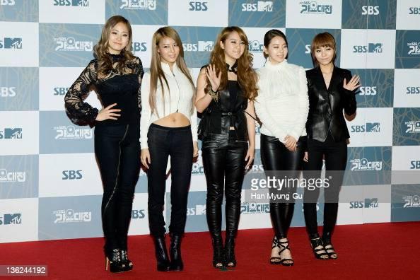 South Korean girl group Wonder Girls attend the 2011 SBS Korea Pop Music Festival at Ilsan Kintex on December 29 2011 in Gyeonggido South Korea