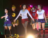 South Korean group Wonder Girls perform during their concert at Shanghai Grand Stage on December 1 2009 in Shanghai of China