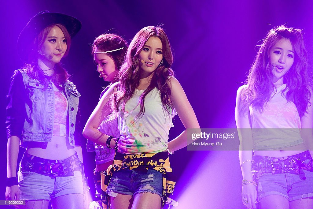 South Korean idol girl group Dal Shabet performs on stage the MBC Music 'Show Champion' at AX Korea on June 12, 2012 in Seoul, South Korea.