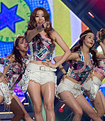 South Korean idol girl group Dal Shabet performs on stage the MBC Music 'Show Champion' at AX Korea on June 19 2012 in Seoul South Korea