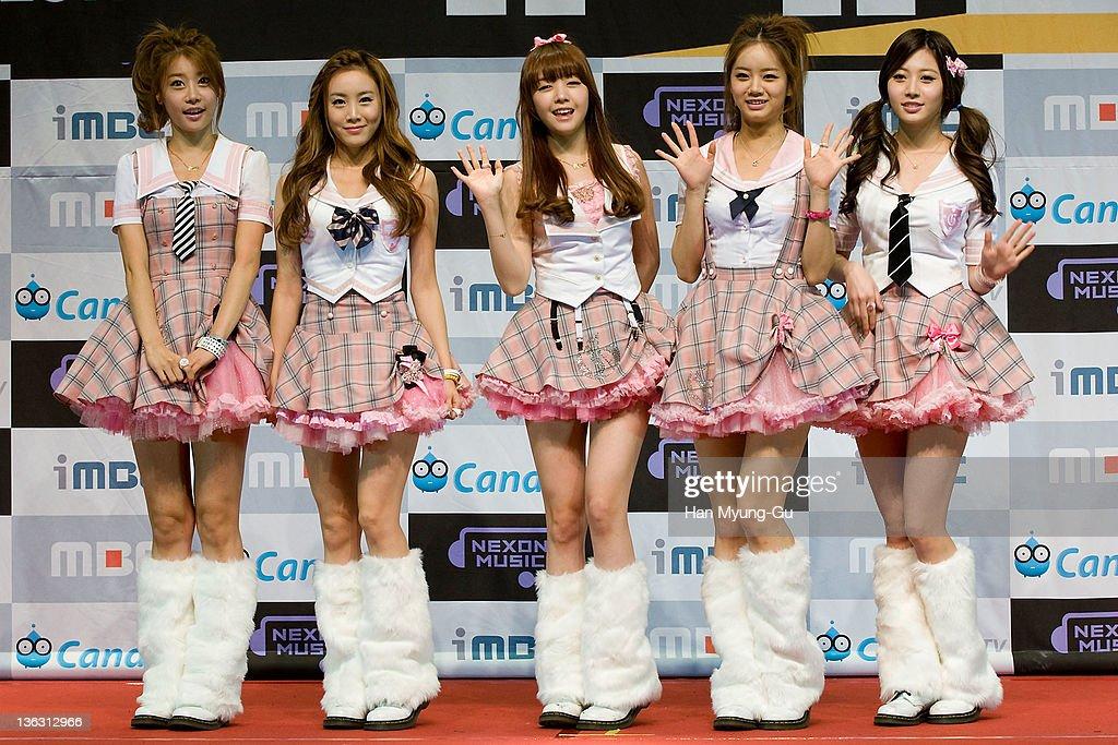 South Korean idol girl group Girls Day attend the 2011 MBC Korean Music Festival at Speedom on December 31, 2011 in Gyeonggi-do, South Korea.