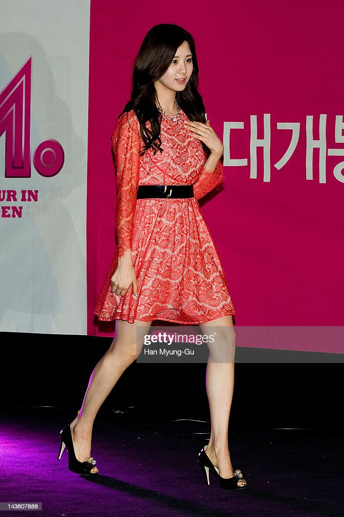 South Korean idol girl group Seohyun of Girls' Generation attends a showcase to promote 'I AM.' at CGV on April 30, 2012 in Seoul, South Korea. The documentary movie will open on May in South Korea.