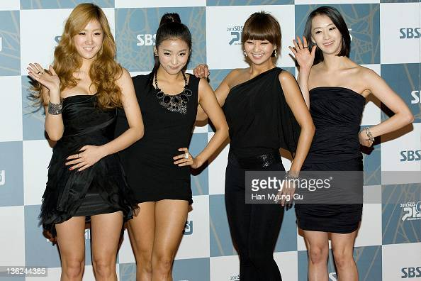 South Korean idol girl group SISTAR attend the 2011 SBS Korea Pop Music Festival at Ilsan Kintex on December 29 2011 in Gyeonggido South Korea