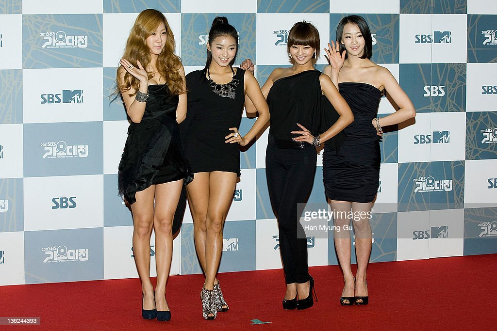South Korean idol girl group SISTAR attend the 2011 SBS Korea Pop Music Festival at Ilsan Kintex on December 29 2011 in Gyeonggido South Korea