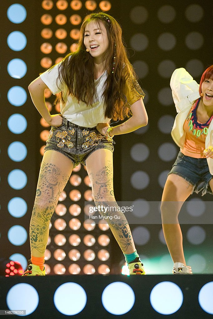 South Korean idol girl group Sohee of Wonder Girls performs on stage the MBC Music 'Show Champion' at AX Korea on June 12, 2012 in Seoul, South Korea.