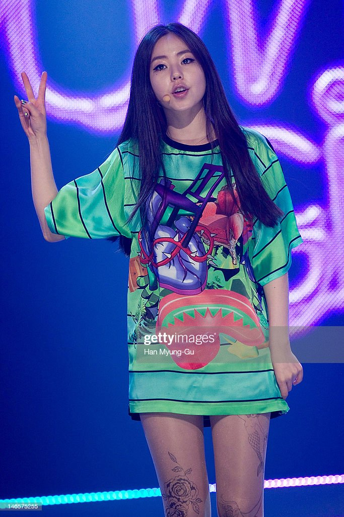 South Korean idol girl group Sohee of Wonder Girls performs on stage during the MBC Music 'Show Champion' at AX Korea on June 19, 2012 in Seoul, South Korea.