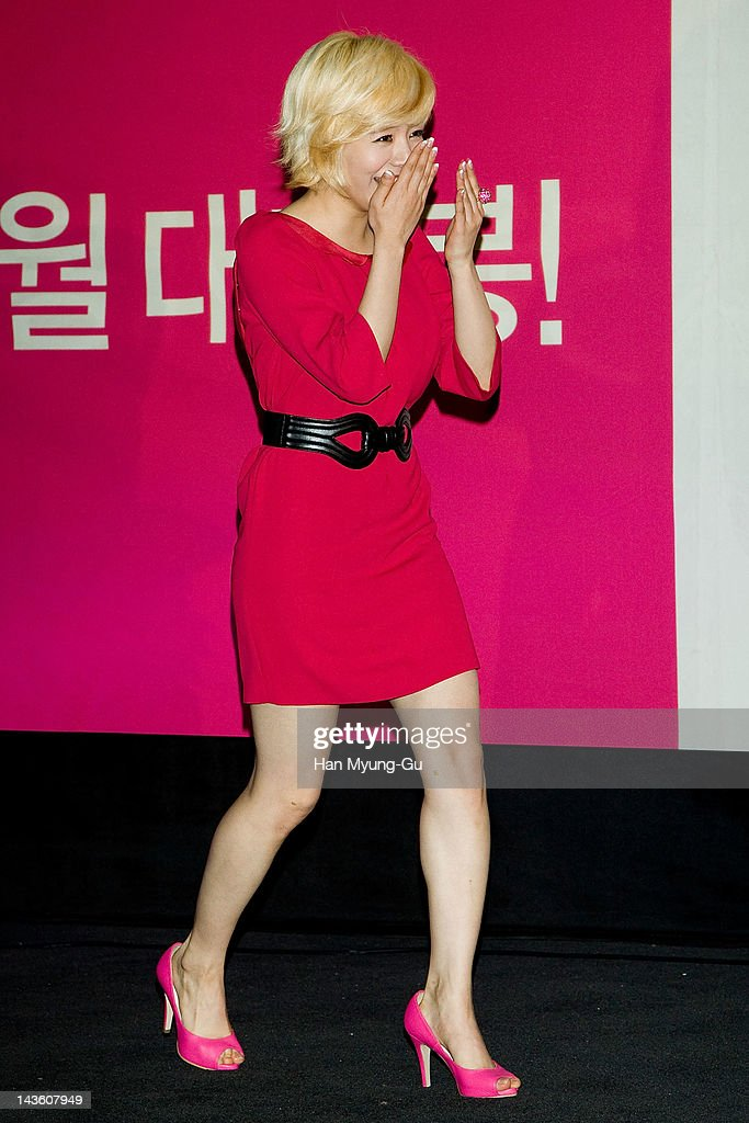 South Korean idol girl group Sunny of Girls' Generation attends a showcase to promote 'I AM.' at CGV on April 30, 2012 in Seoul, South Korea. The documentary movie will open on May in South Korea.