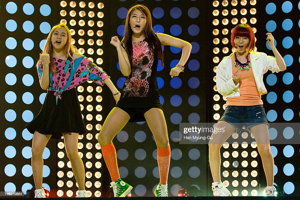 South Korean idol girl group Yubin of <a gi-track='captionPersonalityLinkClicked' href=/galleries/search?phrase=Wonder+Girls&family=editorial&specificpeople=5637005 ng-click='$event.stopPropagation()'>Wonder Girls</a> performs on stage the MBC Music 'Show Champion' at AX Korea on June 12, 2012 in Seoul, South Korea.