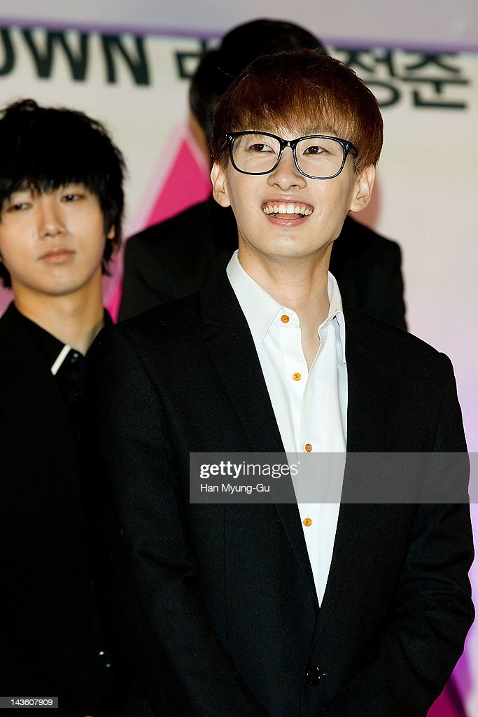 South Korean idol group Eunhyuk of <a gi-track='captionPersonalityLinkClicked' href=/galleries/search?phrase=Super+Junior&family=editorial&specificpeople=561135 ng-click='$event.stopPropagation()'>Super Junior</a> attends a showcase to promote 'I AM.' at CGV on April 30, 2012 in Seoul, South Korea. The documentary movie will open on May in South Korea.