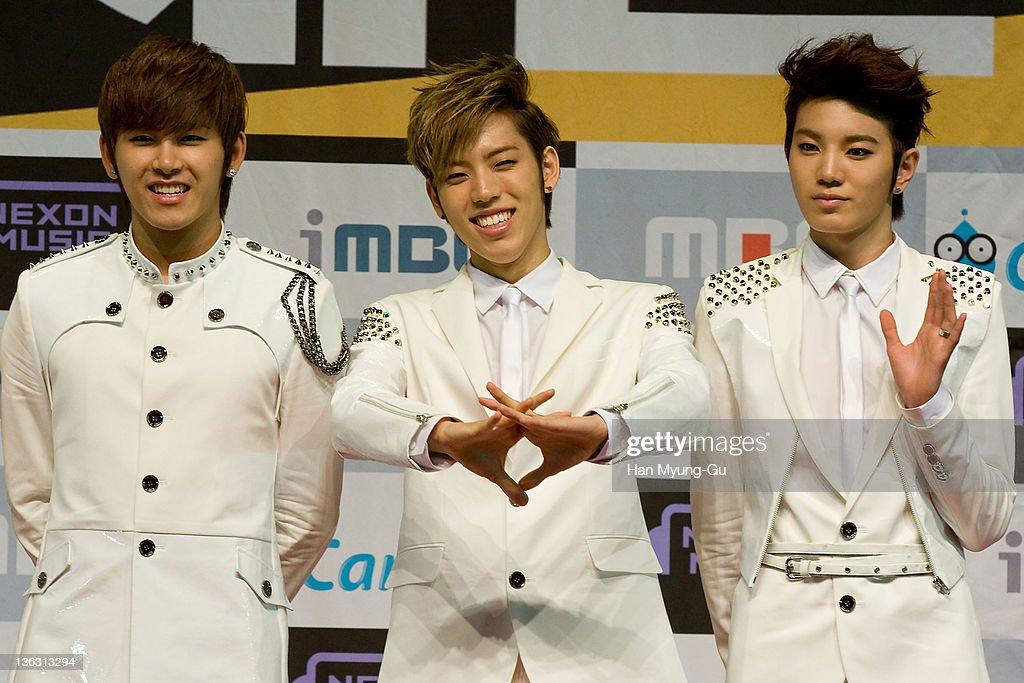 South Korean idol group Infinite attend the 2011 MBC Korean Music Festival at Speedom on December 31, 2011 in Gyeonggi-do, South Korea.