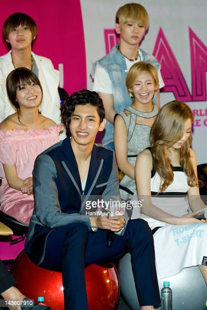 South Korean idol MAX of TVXQ and TaeminKey of SHINee and SooyoungTaeyeon and Hyoyeon of Girls' Generation attends a showcase to promote 'I AM' at...