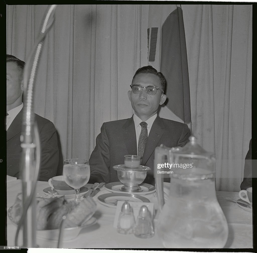 South Korean military strong man Park Chung Hee shown here during a breakfast with Korean students told the students he would never permit the...