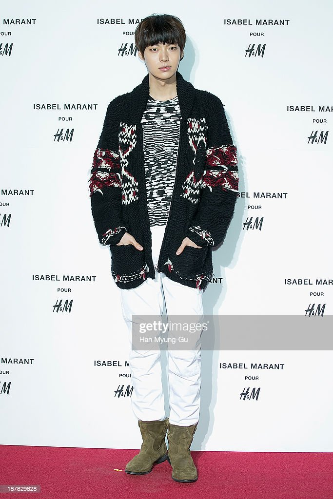 South Korean model Ahn Jae-Hyun attends Isabel Marant Pour H&M pre-shopping and party at Noon Square H&M Store on November 12, 2013 in Seoul, South Korea.