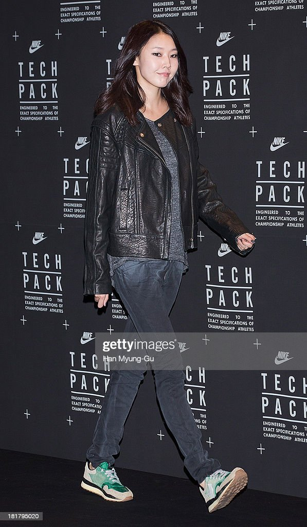 South Korean model Han Hye-Jin attends a promotional event for the NIKE 'Tech Pack' Showcase at Shilla Hotel on September 24, 2013 in Seoul, South Korea.