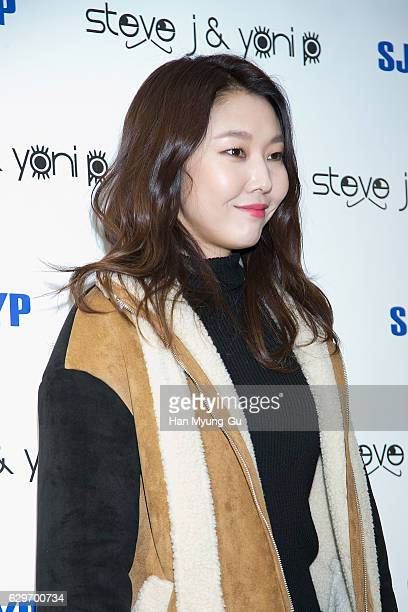 South Korean model Han HyeJin attends the flagship store opening for 'Steve J and Yoni P' on December 14 2016 in Seoul South Korea
