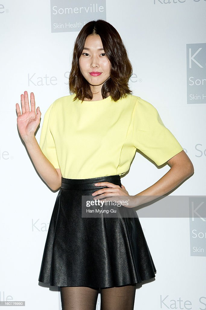 South Korean model, Han Hye-Jin attends the Kate Somerville Skin Care launching at Park Hyatt Hotel on February 5, 2013 in Seoul, South Korea.