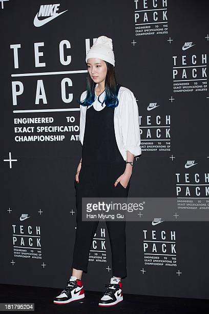 South Korean model Irene attends a promotional event for the NIKE 'Tech Pack' Showcase at Shilla Hotel on September 24 2013 in Seoul South Korea
