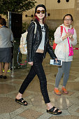 South Korean model Irene Kim is seen on departure at Gimpo International Airport on April 15 2014 in Seoul South Korea