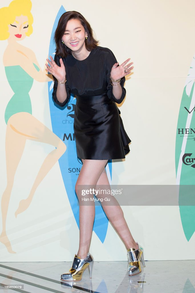 South Korean model Jang Yoon-Ju attends during at the 'Lucky Chouette' show on day five of the Seoul Fashion Week Spring/Summer 2014 at the Grand Hyatt Hotel on March 28, 2013 in Seoul, South Korea.