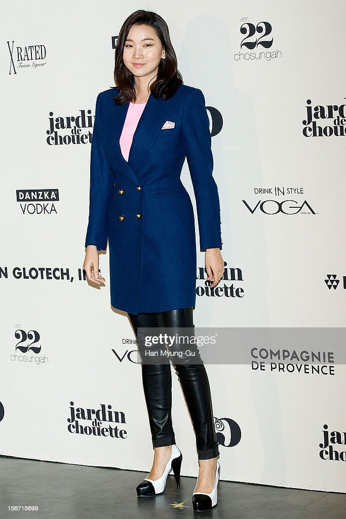 South Korean model Jang Yun-Joo attends during a promotional event of the 'Jardin de Chouette' 2013 S/S Collection at AX Korea on November 19, 2012 in Seoul, South Korea.
