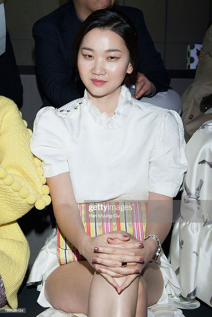 South Korean model Jang Yun-Joo attends the 'Jardin De Chouette' Collection on March 29, 2013 in Seoul, South Korea.