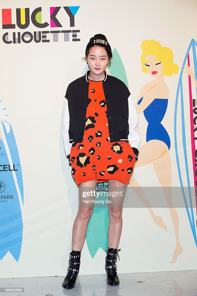South Korean model Kang Seung-Hyon (Kang Seung-Hyun) attends during at the 'Lucky Chouette' show on day five of the Seoul Fashion Week Spring/Summer 2014 at the Grand Hyatt Hotel on March 28, 2013 in Seoul, South Korea.