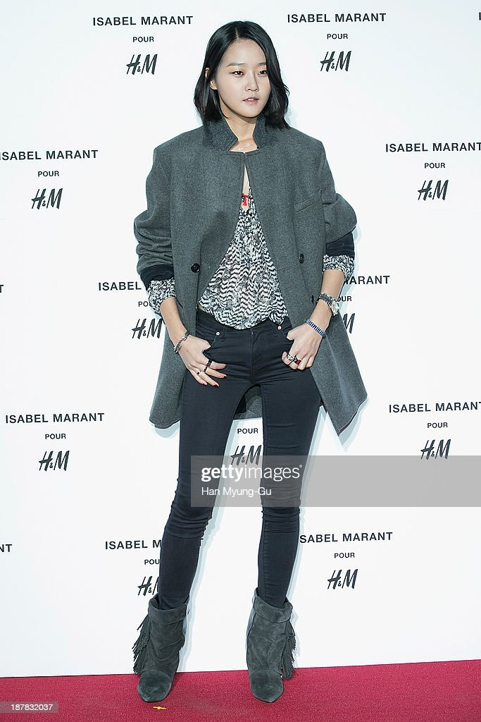 South Korean model Kang Seung-Hyon (Kang Seung-Hyun) attends Isabel Marant Pour H&M pre-shopping and party at Noon Square H&M Store on November 12, 2013 in Seoul, South Korea.