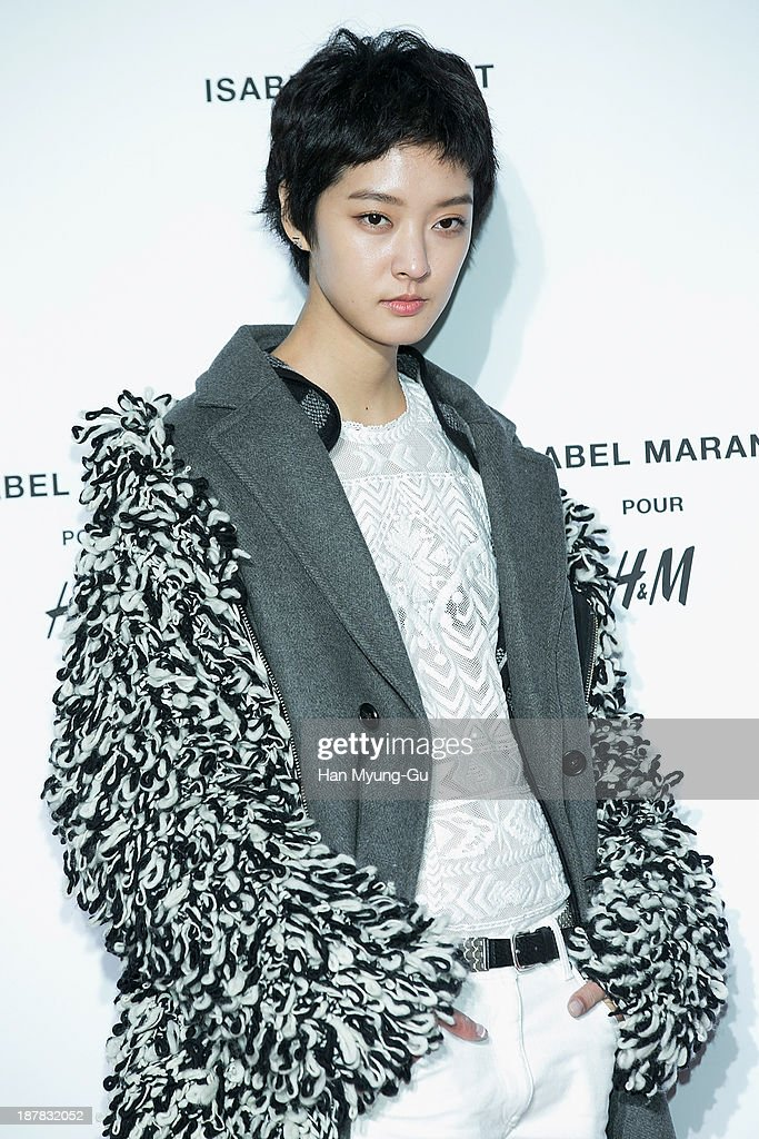 South Korean model Kang So-Young attends Isabel Marant Pour H&M pre-shopping and party at Noon Square H&M Store on November 12, 2013 in Seoul, South Korea.