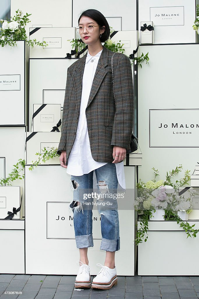 South Korean model Kang So-Young attends the photocall for Jo Malone London Hannam boutique opening on May 12, 2015 in Seoul, South Korea.