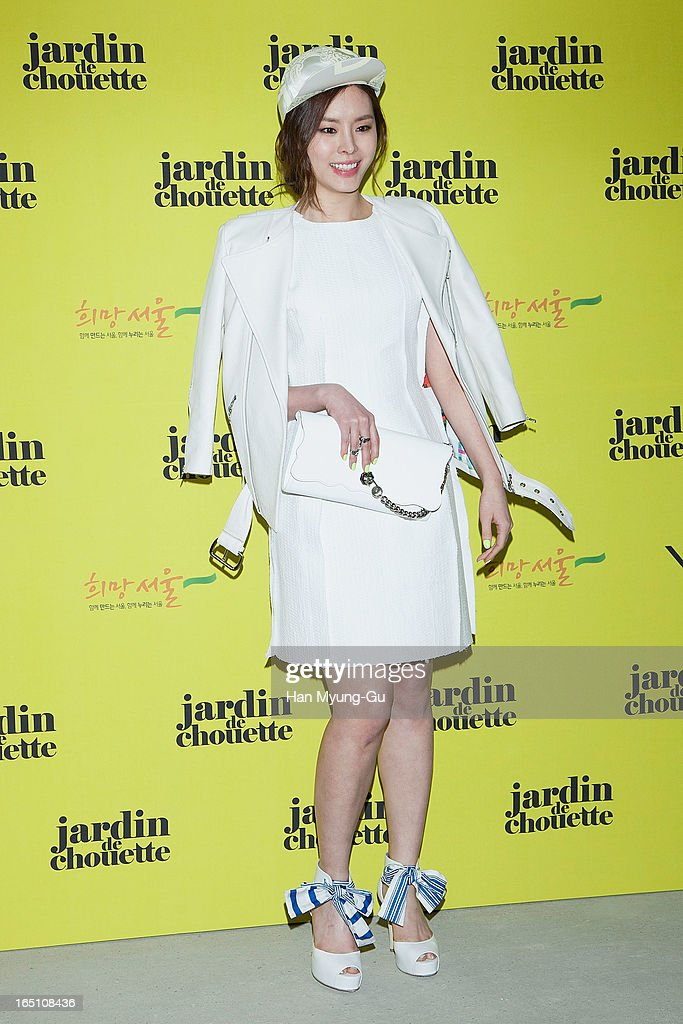 South Korean model Koo Eun-Ae attends the 'Jardin De Chouette' Collection on March 29, 2013 in Seoul, South Korea.