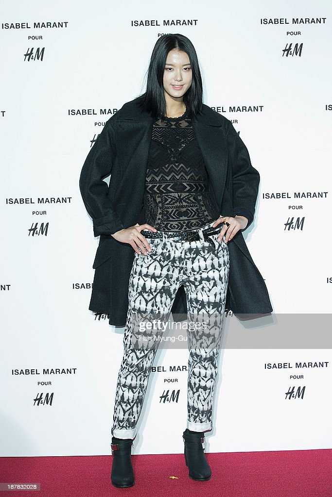 South Korean model Lee Seung-Mee attends Isabel Marant Pour H&M pre-shopping and party at Noon Square H&M Store on November 12, 2013 in Seoul, South Korea.