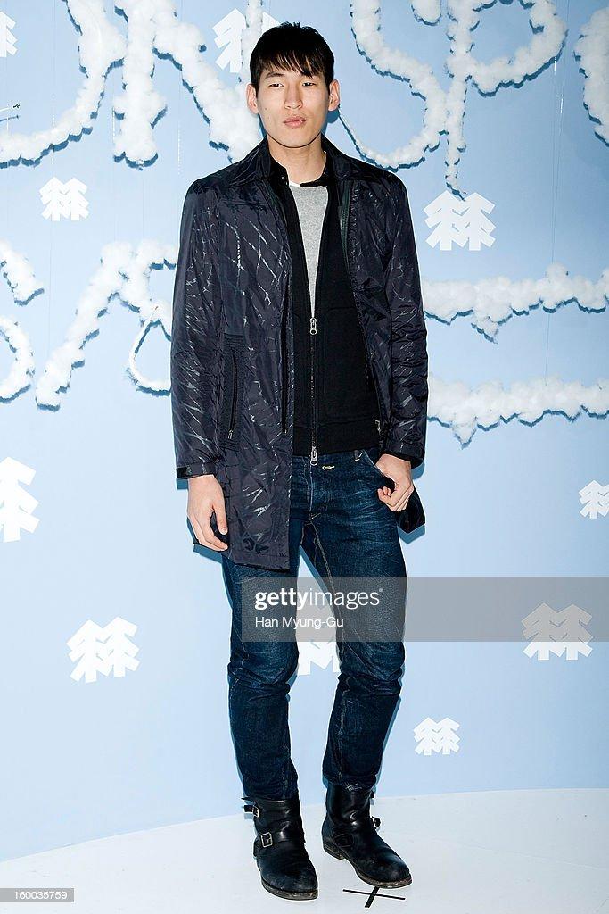 South Korean model Yoo Hyuk-Jae attends the 'Kolon Sport' 2013 SS Presentation on January 24, 2013 in Seoul, South Korea.