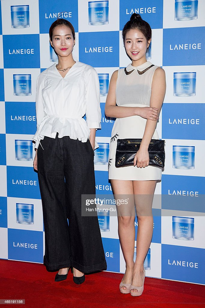 South Korean models attend the Laneige Launch Party at Y1975 on March 3, 2015 in Seoul, South Korea.