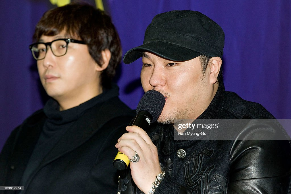 South Korean Music producer, Brave Brothers attends the KBS2 Talk Show 'Moonlight Prince' Press Conference at KBS on January 16, 2013 in Seoul, South Korea. Talk show will open on January 22 in South Korea.