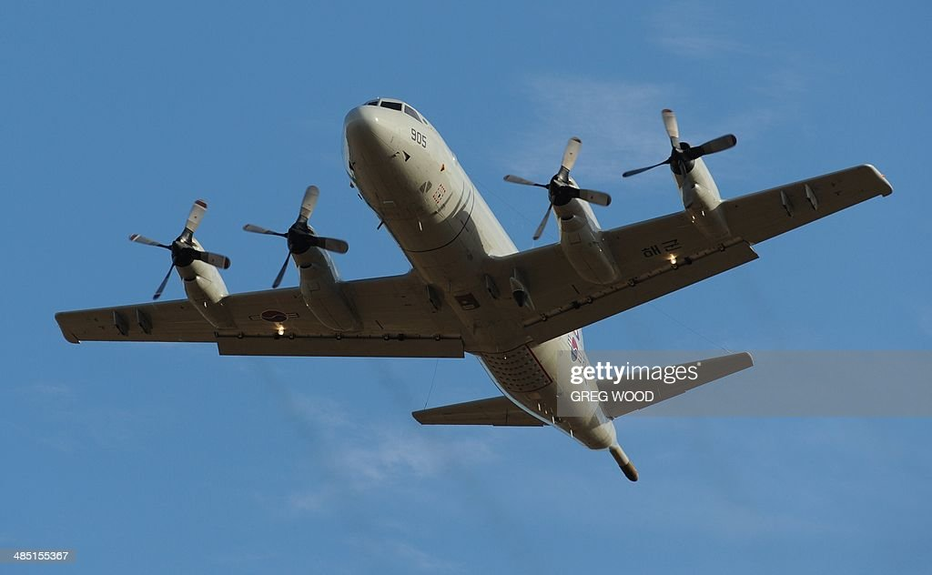A South Korean P3 Orion aircraft takes off from Pearce Airbase in Bullsbrook 35 kms north of Perth to help in the search for missing Malaysia...