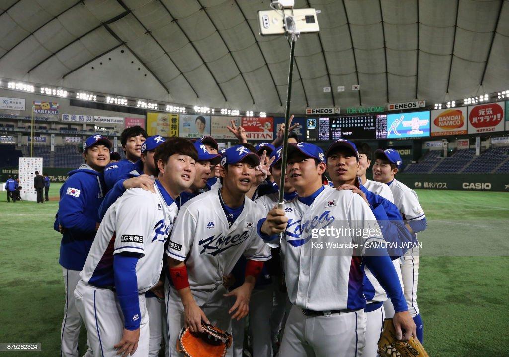 South Korea v Chinese Taipei - Eneos Asia Professional Baseball Championship 2017