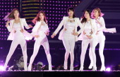 South Korean pop group Dal Shabet perform on stage during the 20th Dream Concert on June 7 2014 in Seoul South Korea