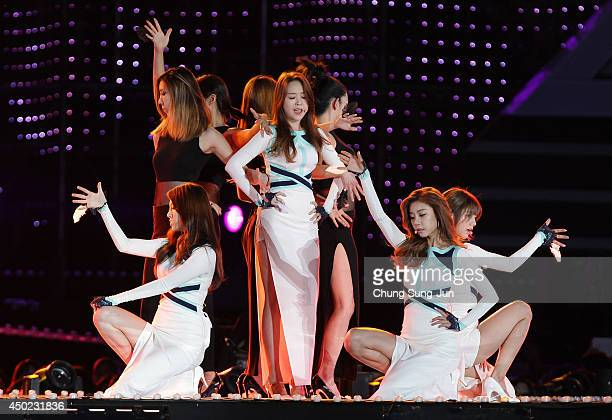 South Korean pop group Girl's Day perform on stage during the 20th Dream Concert on June 7 2014 in Seoul South Korea