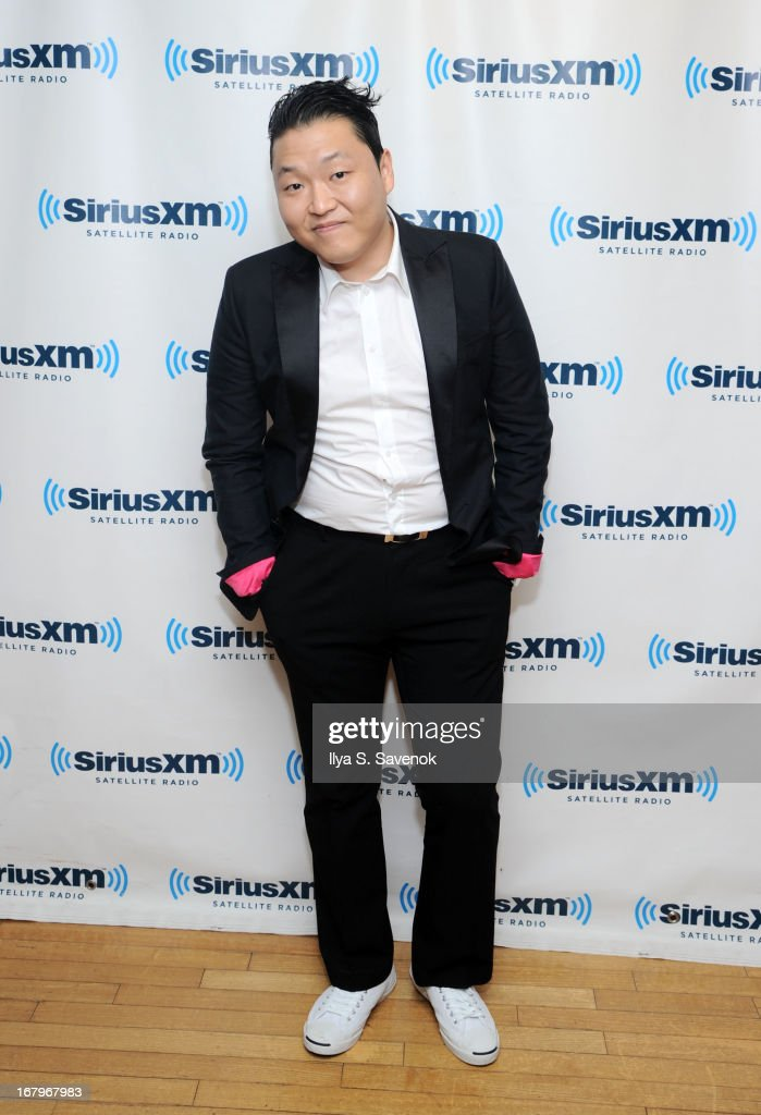 South Korean Pop singer <a gi-track='captionPersonalityLinkClicked' href=/galleries/search?phrase=Psy+-+Artista&family=editorial&specificpeople=9699998 ng-click='$event.stopPropagation()'>Psy</a> visits the SiriusXM Studios on May 3, 2013 in New York City.