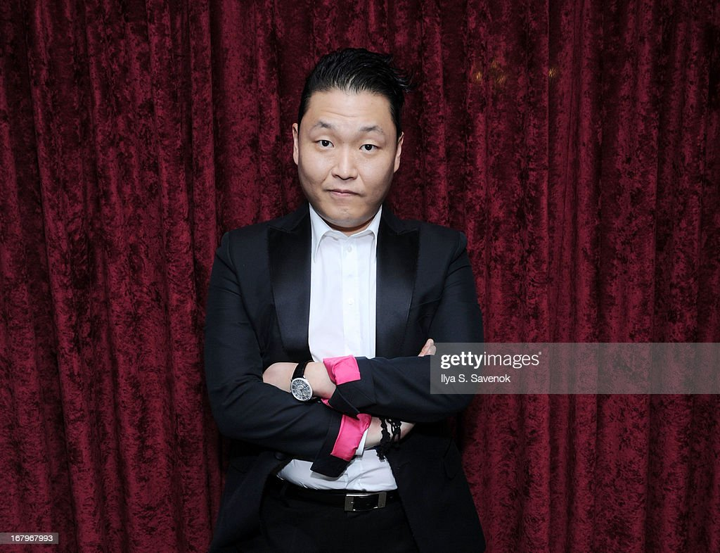 South Korean Pop singer Psy visits the SiriusXM Studios on May 3, 2013 in New York City.